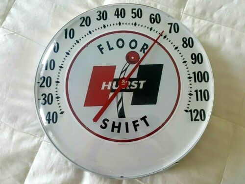Hurst Shifter Advertising thermometer gas oil service station sign - racing