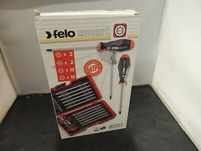 Felo 50630 13pc Set in Smart Box H137 Slotted Phillips Hex Torx Tip Blades