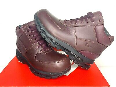 $160 NIB SIZES 7-15 MEN Nike ACG Air Max Goadome Leather Boots Shoes Burgandy