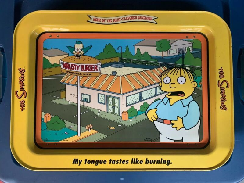 The Simpsons - Vintage Food Tray
