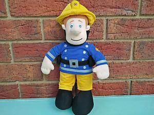 Large 38cm Talking Fireman Sam Plush Toy Kilmore Mitchell Area Preview