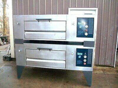 2 Lang Natural Gas Air Deck Double Pizza Ovens New Stones