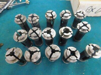 15 Piece Set Of Hardinge No. 10 Collets