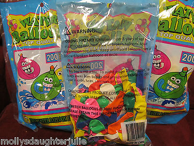 2000 New in Bags Water Balloons- W/ water filler Included-- *Free shipping!!!  - 2000 Balloons