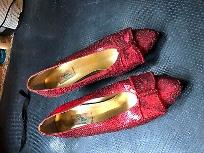 Ruby Red full sequin shoes Wizard of Oz Dorthy 7B Lacy After Noon