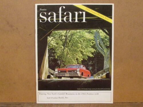 PONTIAC SAFARI, Pontiac Dealership Magazine, Sept/Oct 1965, 1966 Preview Issue