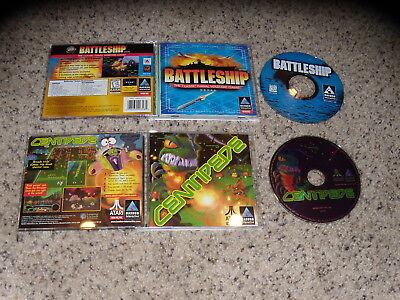 Centipede & Battleship PC Games Mint Condition
