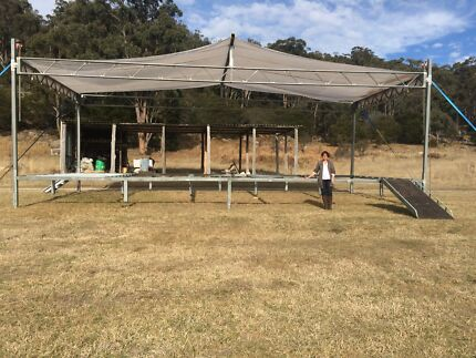 Portable Concert Stage with winch up roof. Glen Innes Glen Innes Area Preview