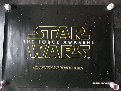 STAR WARS THE FORCE AWAKENS (ADVANCE) ORIGINAL UK QUAD MOVIE POSTER 2015 ROLLED
