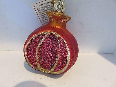 Pomegranate  Old World Christmas glass ornament