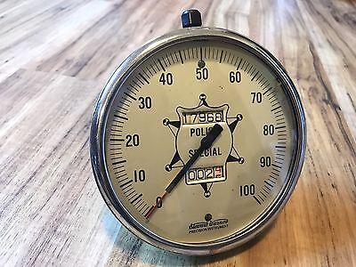 Vintage Stewart Warner 100 MPH Police Special Speedometer Gauge Hot Rod SCTA