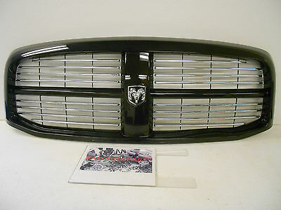 Factory OEM Genuine Mopar Ram Front Grille Assembly Painted Brilliant Black *NEW