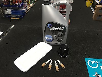 TOYOTA YARIS 1.0 16V 99-05 OIL AIR FILTER 4 NGKDENSO PLUGS SYNTH OIL SERVICE KIT