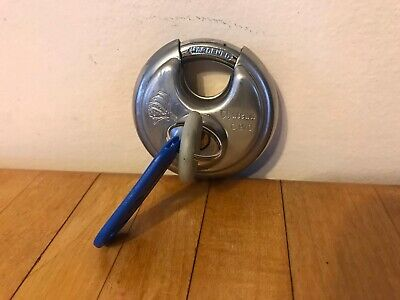 Chateau C 970 Hardened Disc Lock Stainless Steel W Key Heavy Duty Storage Shed