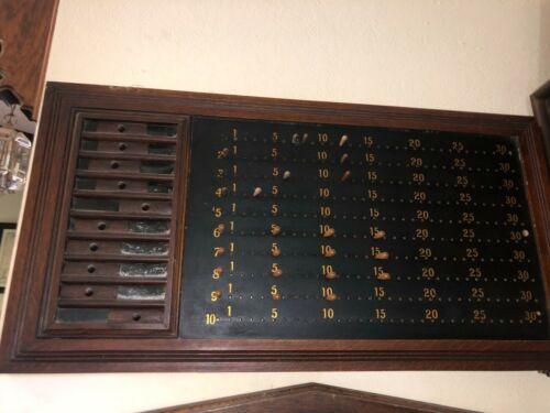 Original Antique billiard pool pin score board Brunswick Balke Collender