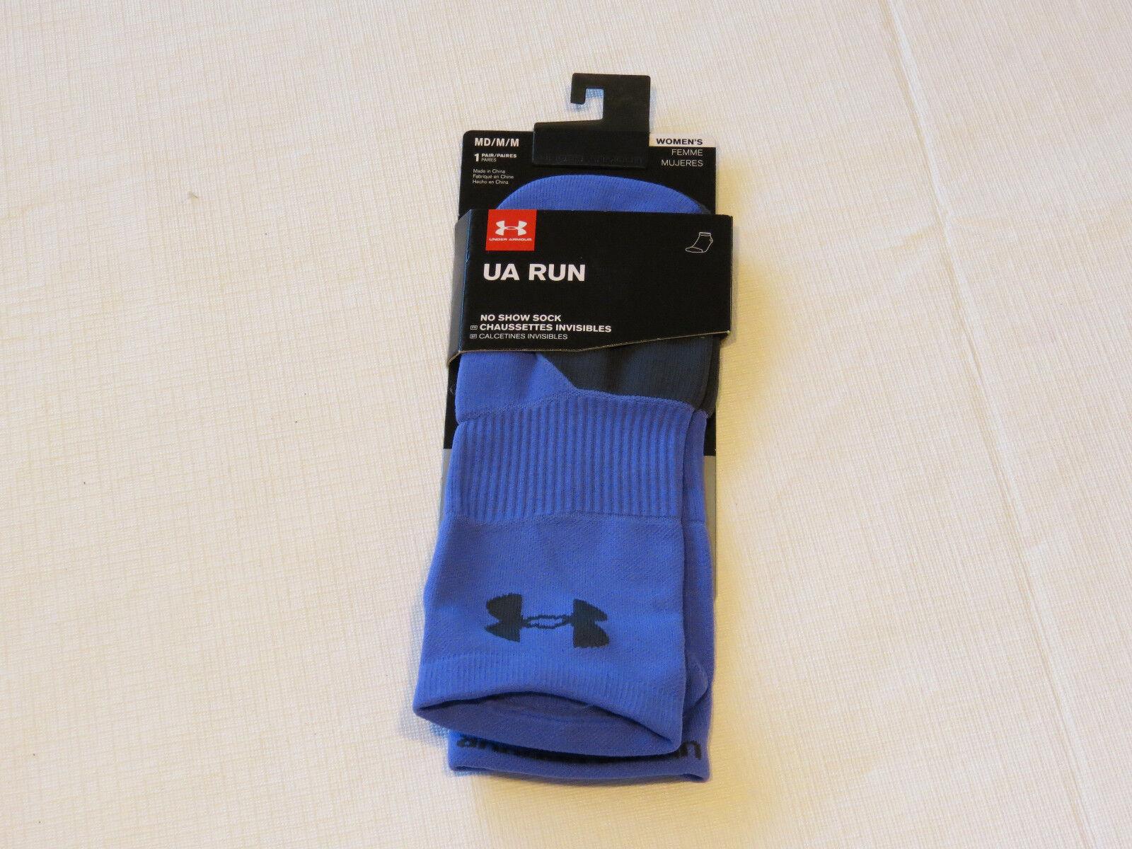 Under Armour UA Run No Show Socks 1 pair M MD 7-10.5 running