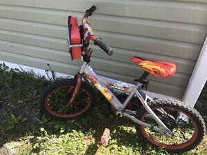 Lightning McQueen bike and Helmet w/optional training wheels.