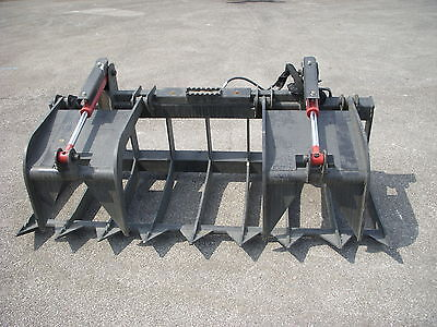 Kubota Skid Steer Attachment - 74 Heavy Duty Root Grapple Bucket - Free Ship
