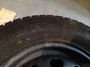 King star studded winter tires 185/70/14 on winter rims