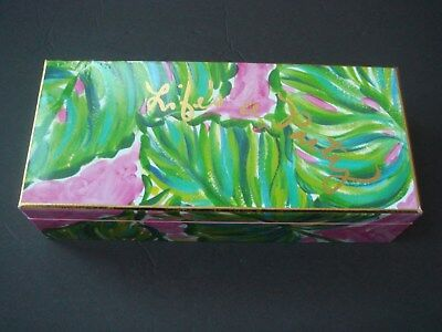 NEW LILLY PULITZER Hinged Lacquer Storage box