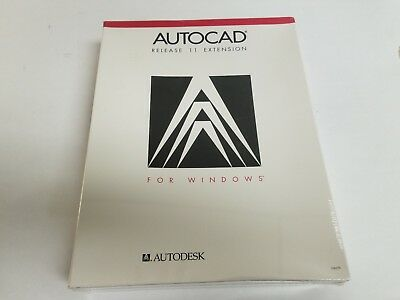 New Old Stock  Autocad R11 Extension For Windows Dos 386 1 2Mb   Sealed Box