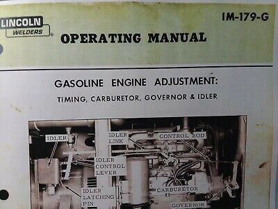 Lincoln Sa-200 300 400 600 Gas Dc Welder Fine Tuning Owners Manual Pipeliner