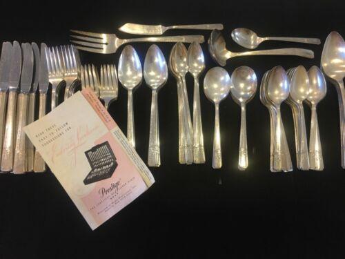 Vintage Prestige GRENOBLE PATTERN  Silver Plate 81 Pcs-8 Complete Sets + More