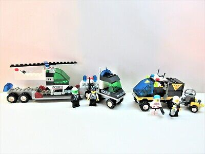 Lego Vintage Classic Town Police & Res-Q #6328 & #6445-100% w/minifigs (1998)