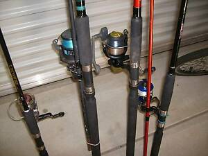 FISHING RODS (4) SOME WITH NEW REELS...NEVER USED Southern River Gosnells Area Preview