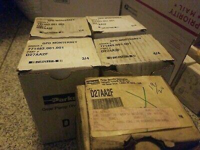 Parker Gear Pump D27aa2f New In Boxes Inside Sealed Plastic Bags