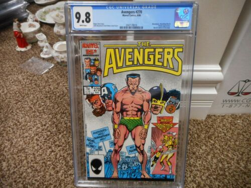 Avengers 270 cgc 9.8 Marvel 1986 Namor Sub-Mariner Moonstone Wasp MINT WHITE pgs