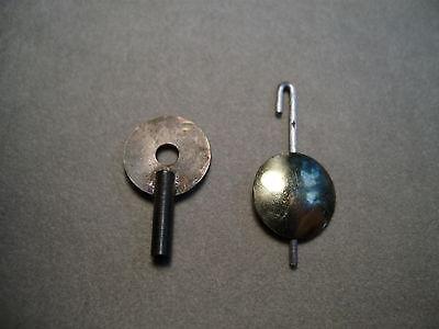 Wintermantel Uhr - Pendel und Schlüssel  für Miniatur Wanduhren von Wintermantel