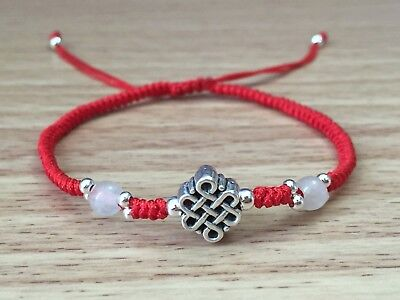 Big Wide /& Thick Delicately Braided Cord Red White Yellow Jade Beaded Bracelet