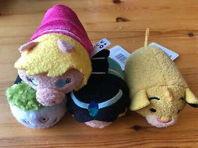 Disney Tsum Tsum Plush bundle - Miss Piggy, Simba, Jasmine, Barrel New with Tags