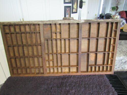 """Vintage Hamilton Printers Type Set Wood Drawer Display 32"""" by 17"""""""