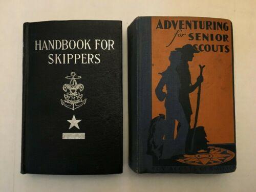 Vintage HC books Handbook for Skippers Adventuring for Senior Scouts BSA 1938 42