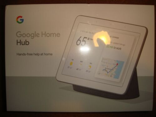 Google Home Hub with Google Assistant- Charcoal- Brand New & Sealed!