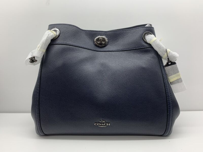 COACH 36855 DKNAV TURNLCK EDIE DARK NAVY (New without Tags) MSRP $260