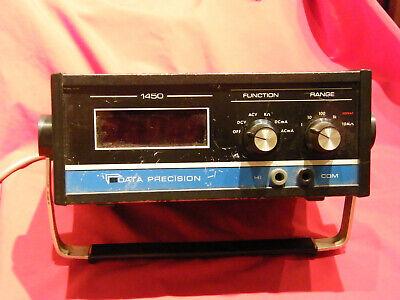 Vintage Digital Multimeter Data Precision 1450 4 12 Digit Dmm