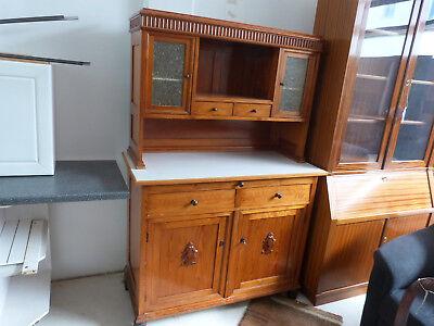 Altes antikes Küchenbuffet Küchenschrank Holz 1920er - 1930er Jahre 2 Teilig