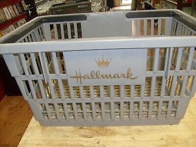 Large Hallmark Card Store Shopping Basket Plastic Retail Merchandise W Handles
