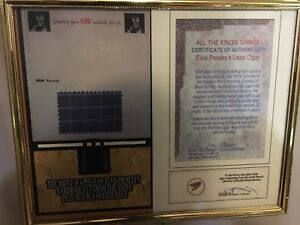 Elvis wardrobe swatch pice and cigar pice