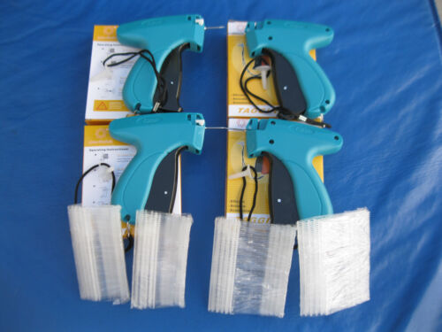 4 Garment Price Label Tag Tagging Gun & 4 Needles  PLUSE  1000 Barbs