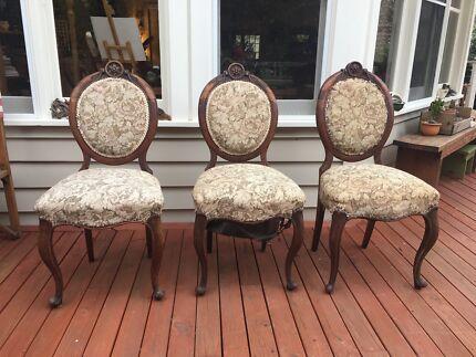 Antique Victorian Balloon Back Chairs [$75 EACH]
