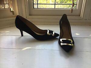 Black suede Nine West Shoes size 7.5 Arncliffe Rockdale Area Preview