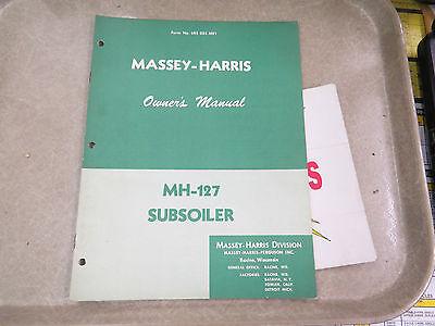 Massey-harris Owners Manual Mh-127 Subsoiler