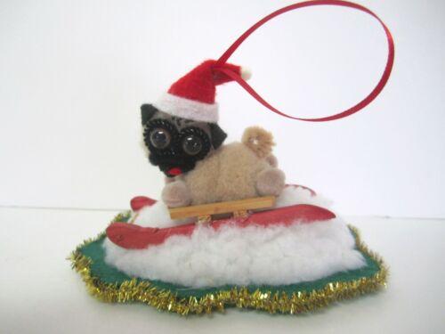 1998 Handmade Pug Christmas Ornament