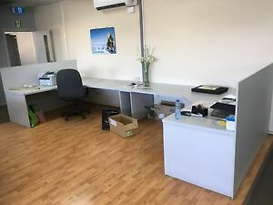 Office furniture. Grey work stations x2 Highett Bayside Area Preview