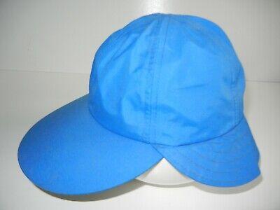 Vtg 90s COLUMBIA Bright Blue Nylon GORE-TEX RAIN HAT Fishing Hiking Sun Cap Sz M Gore Nylon Cap