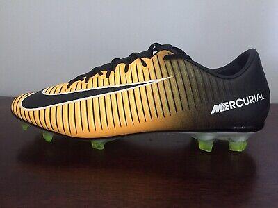 e07461790 Nike Mercurial Vapor XI FG Size 10 Soccer Cleats Orange Yellow Black (847756-801)